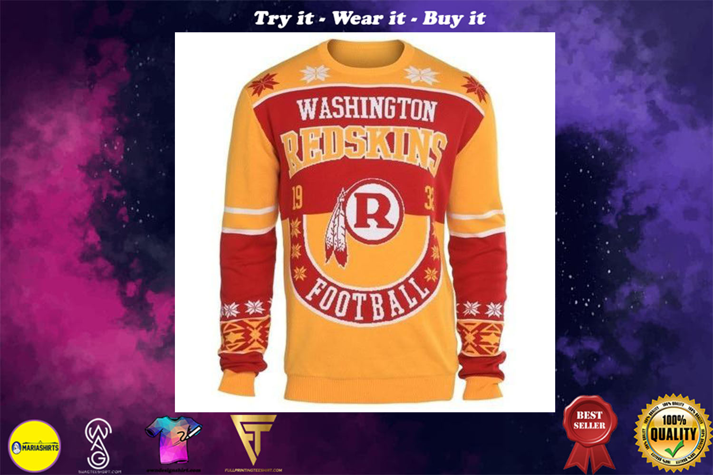 washington redskins holiday ugly christmas sweater