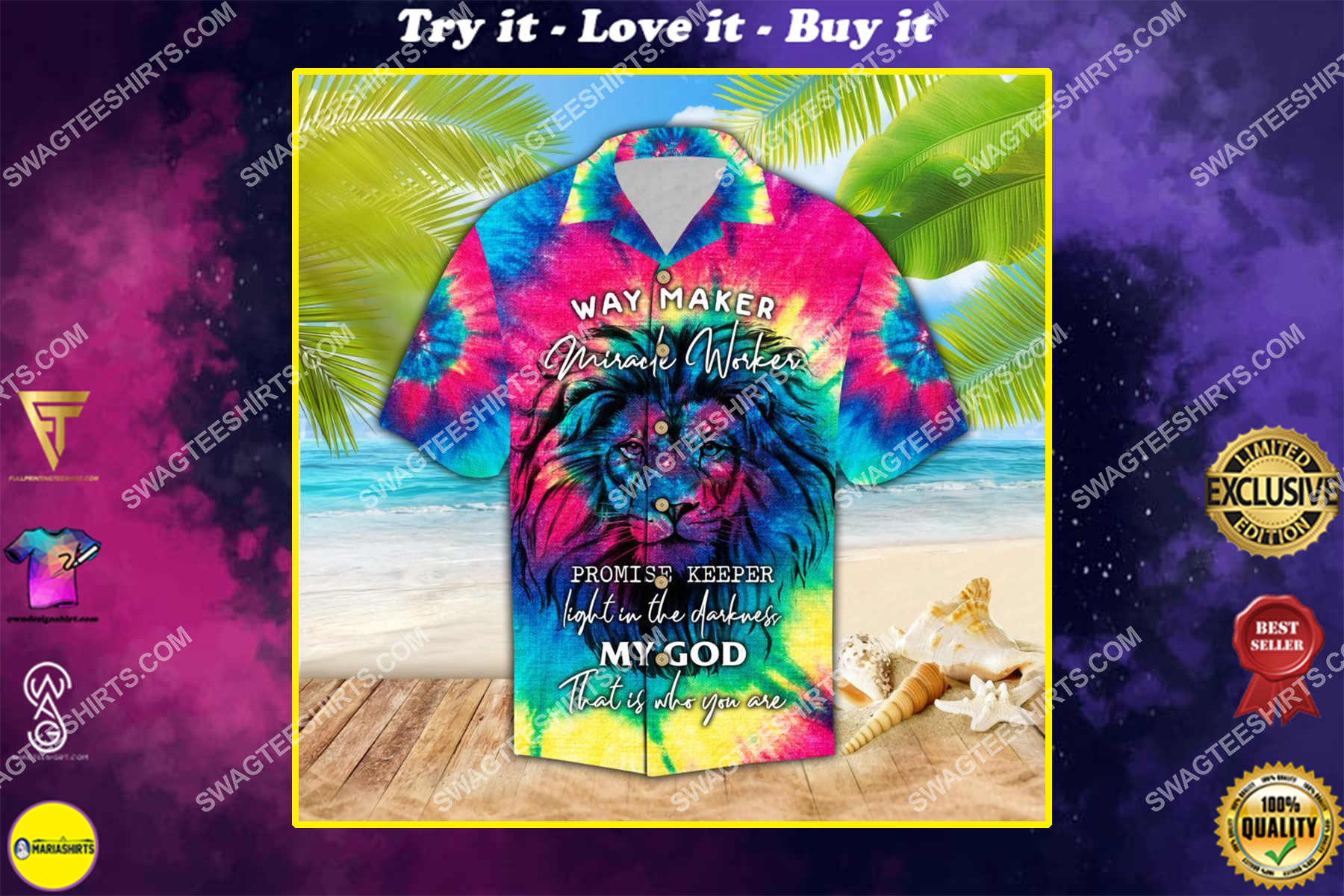 way maker miracle worker promise keeper light in the darkness hawaiian shirt