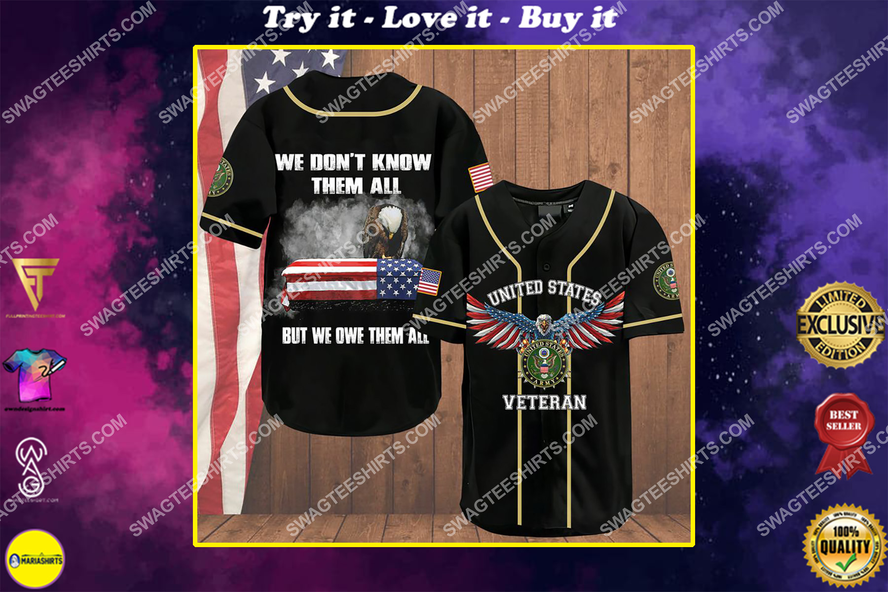 we don't know them all but we owe them all army veteran baseball shirt