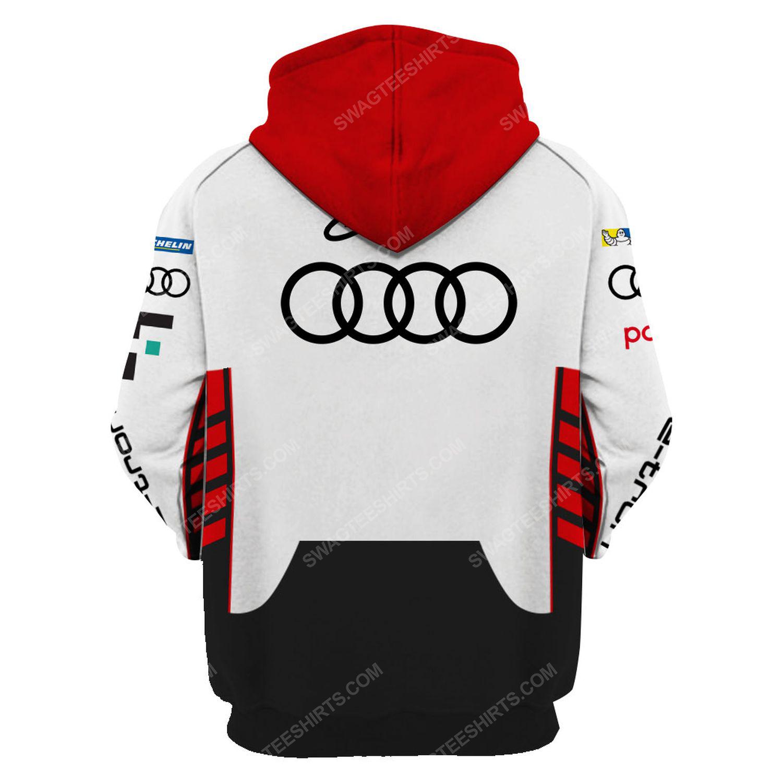 Audi e-tron schwarzer racing team motorsport full printing hoodie - back