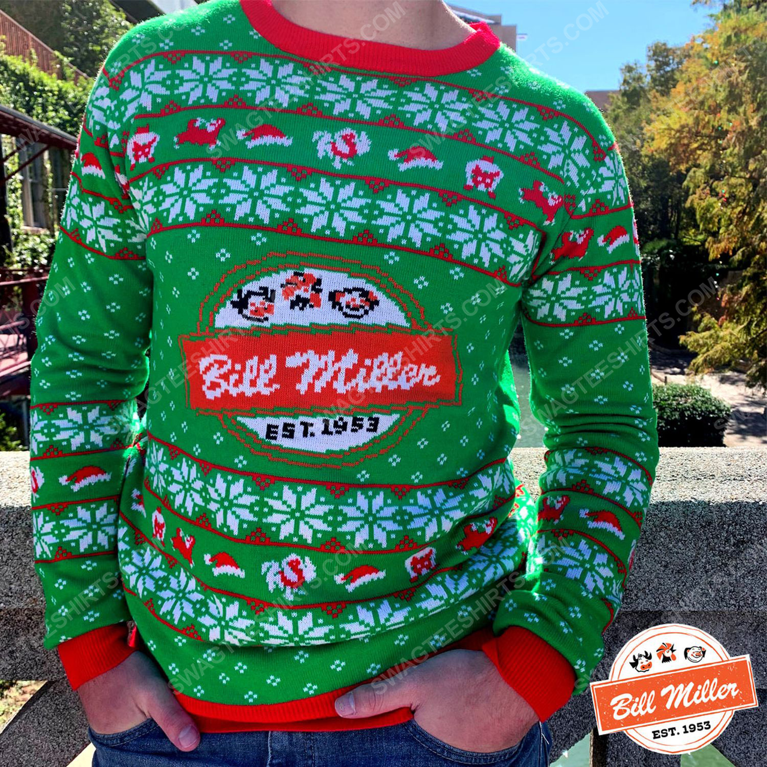 Bill miller full print ugly christmas sweater 2 - Copy (2)