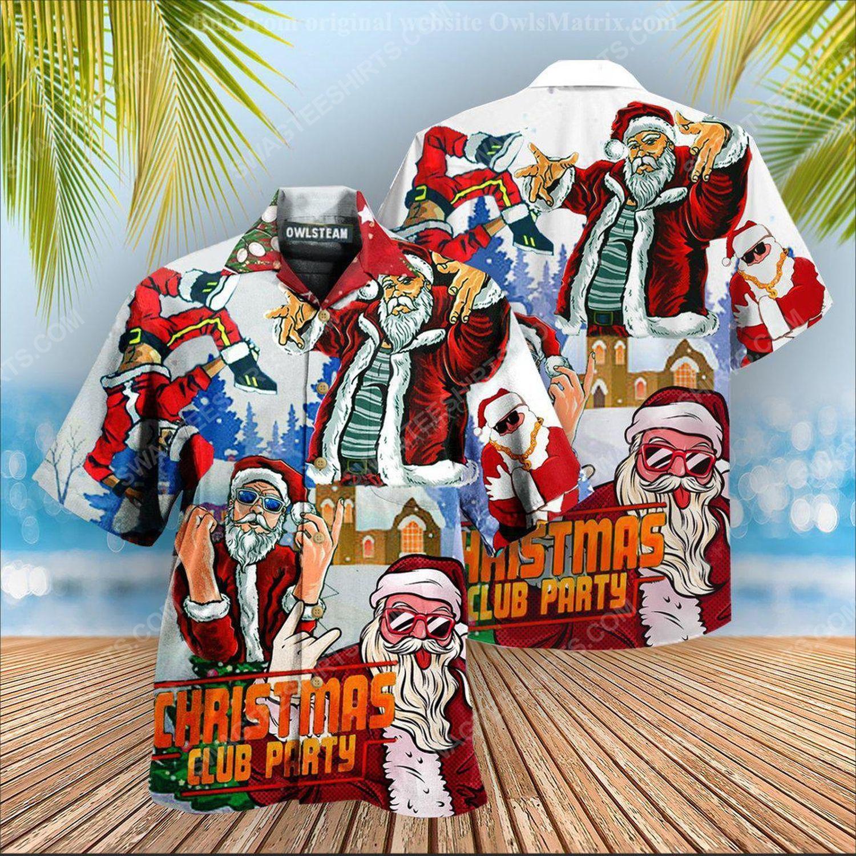 Christmas club party with santa dj hawaiian shirt 2 - Copy (2)