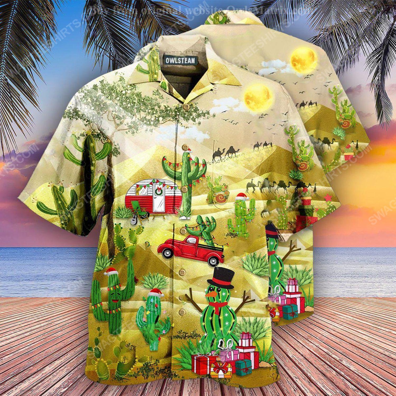 Christmas holiday life is better with cactus full print hawaiian shirt 2