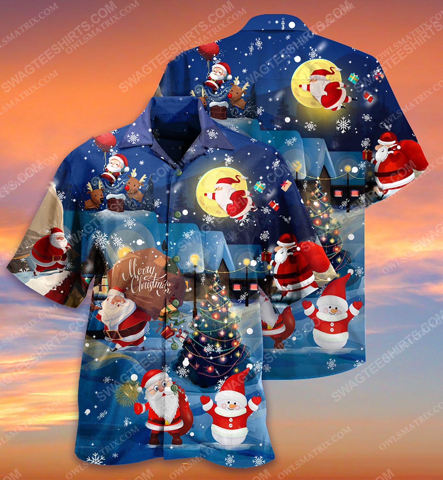 Christmas holiday love santa and gift full print hawaiian shirt 2 - Copy (2)