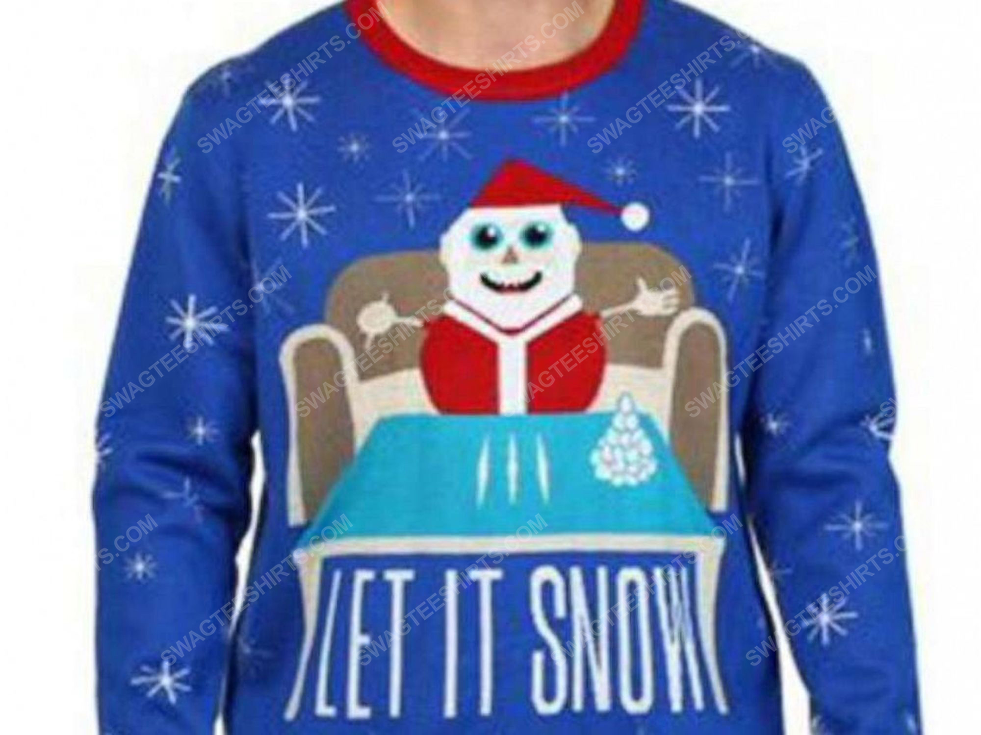 Christmas party let it snow cocaine full print ugly christmas sweater 2 - Copy (2)