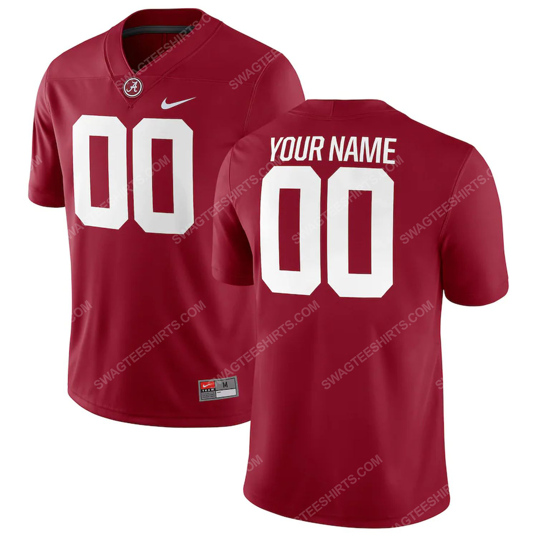 Custom alabama crimson tide football full print football jersey-crimson - Copy