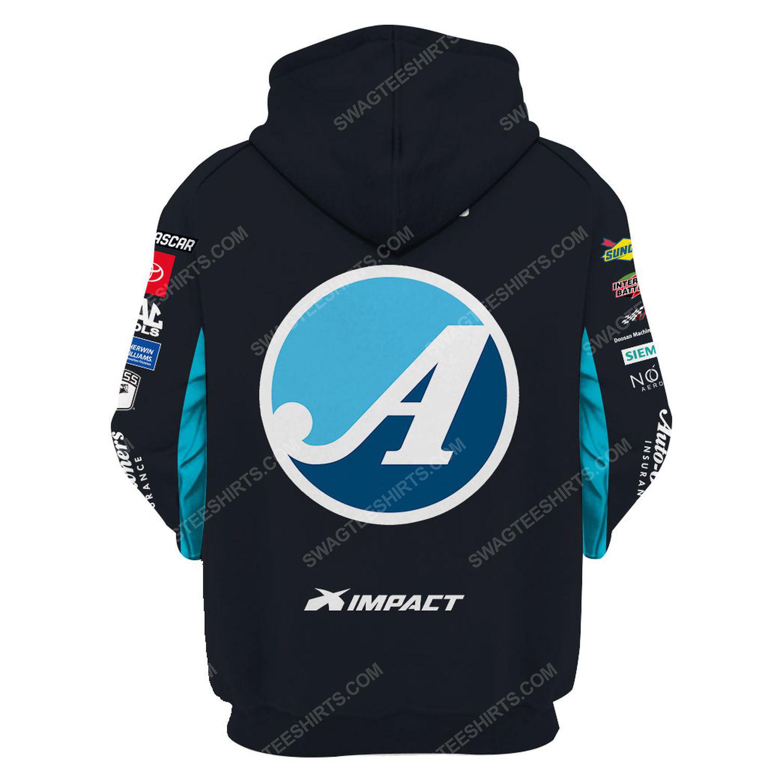 Custom auto-owners insurance racing team motorsport full printing hoodie - back