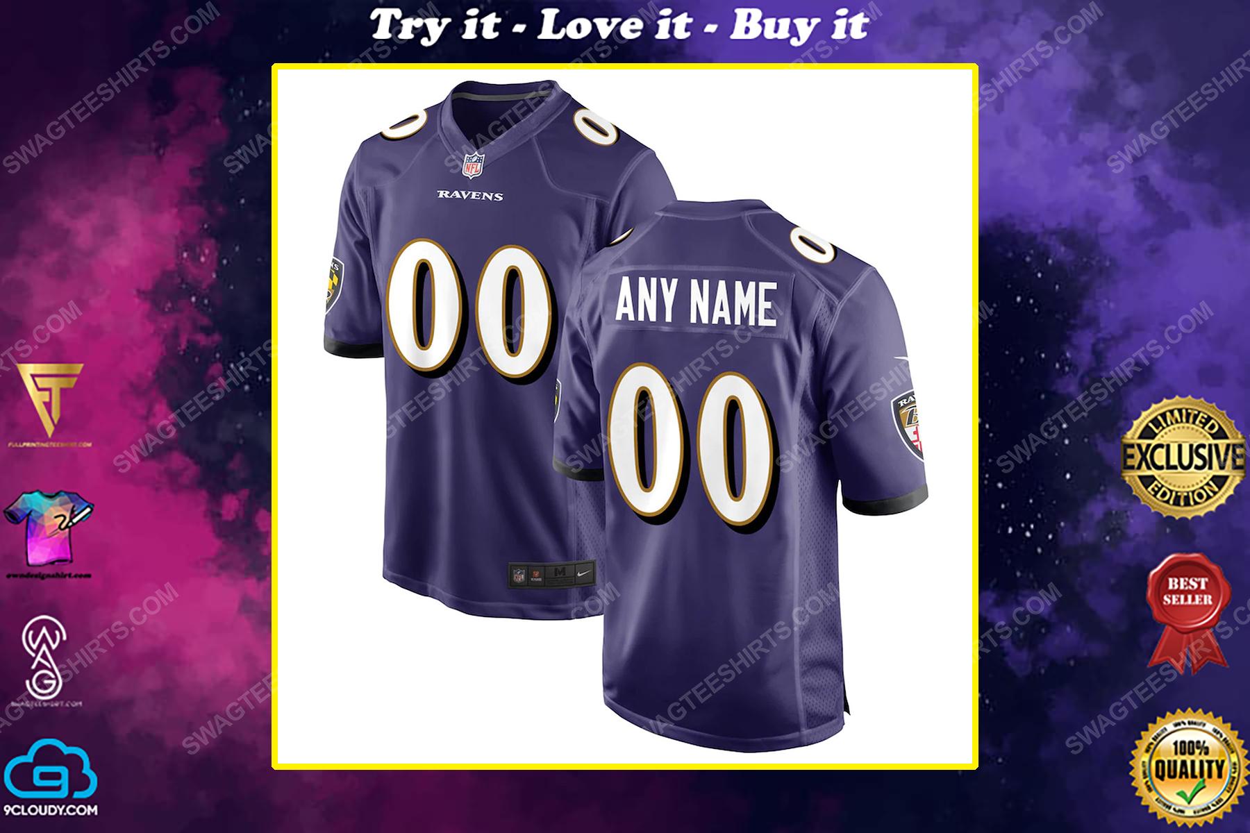 Custom baltimore ravens football full print football jersey