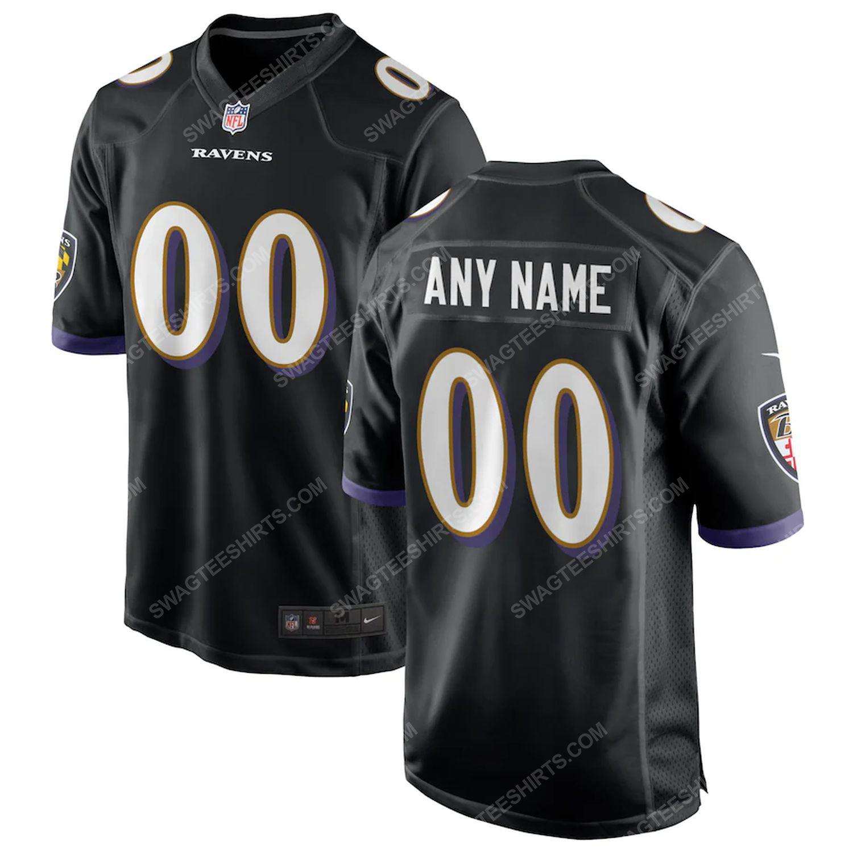 Custom baltimore ravens football team full print football jersey-black - Copy