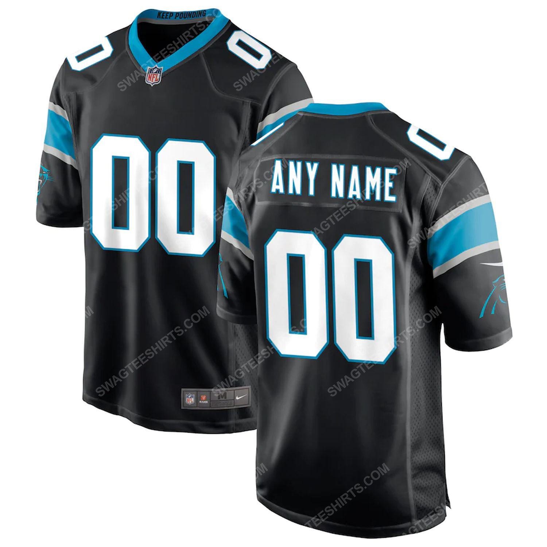 Custom carolina panthers football team full print football jersey-black - Copy (2)