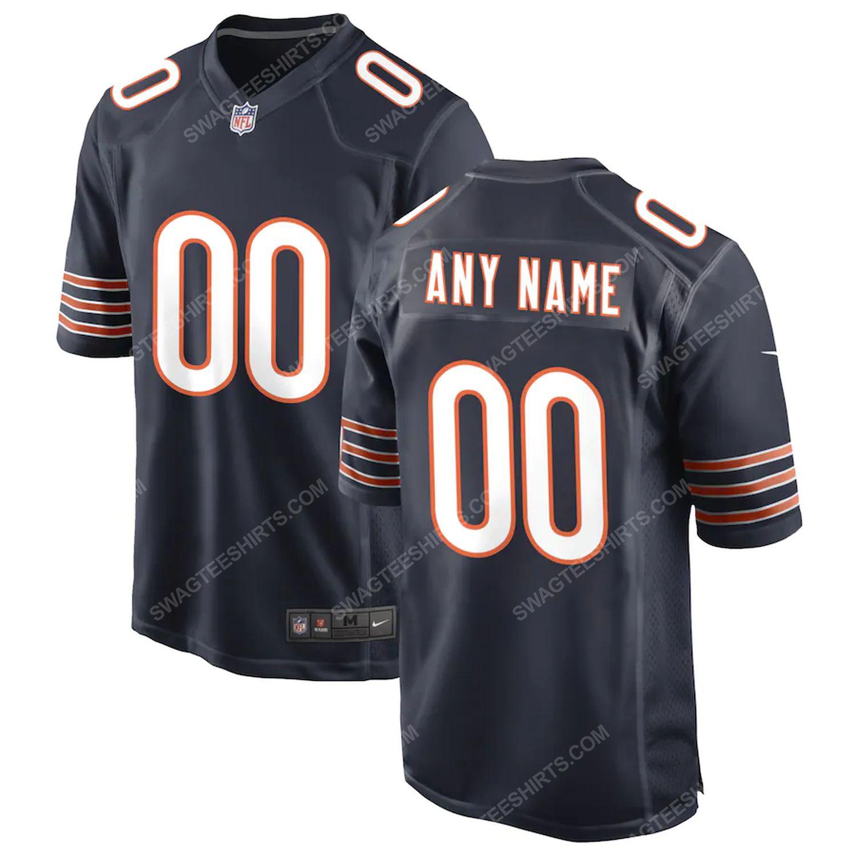 Custom chicago bears football team full print football jersey-navy - Copy