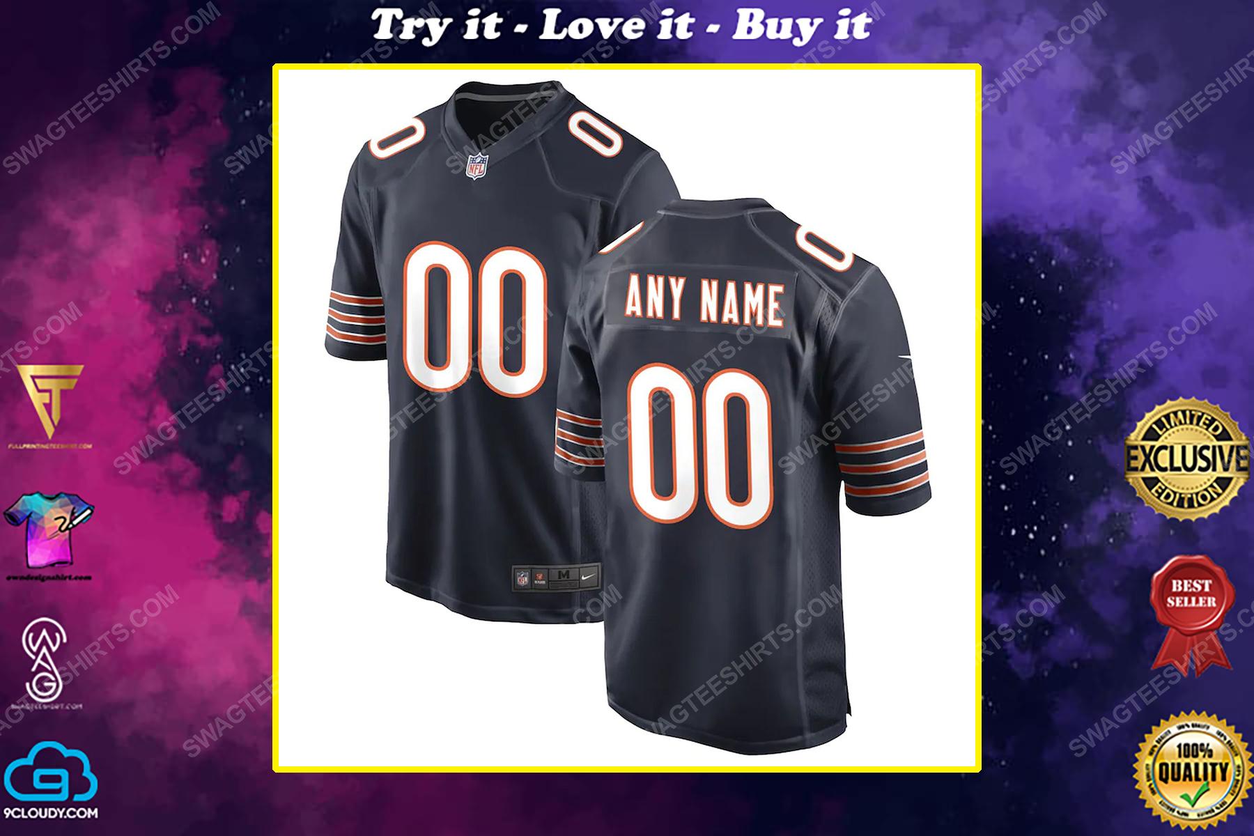 Custom chicago bears football team full print football jersey