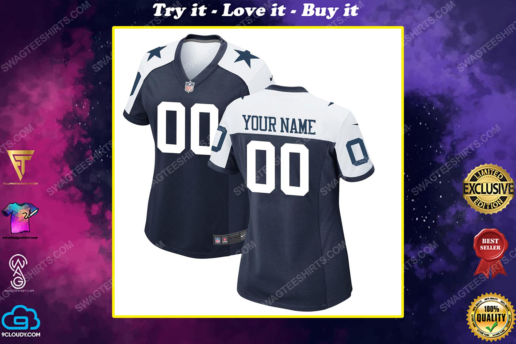 Custom dallas cowboys football team full print football jersey