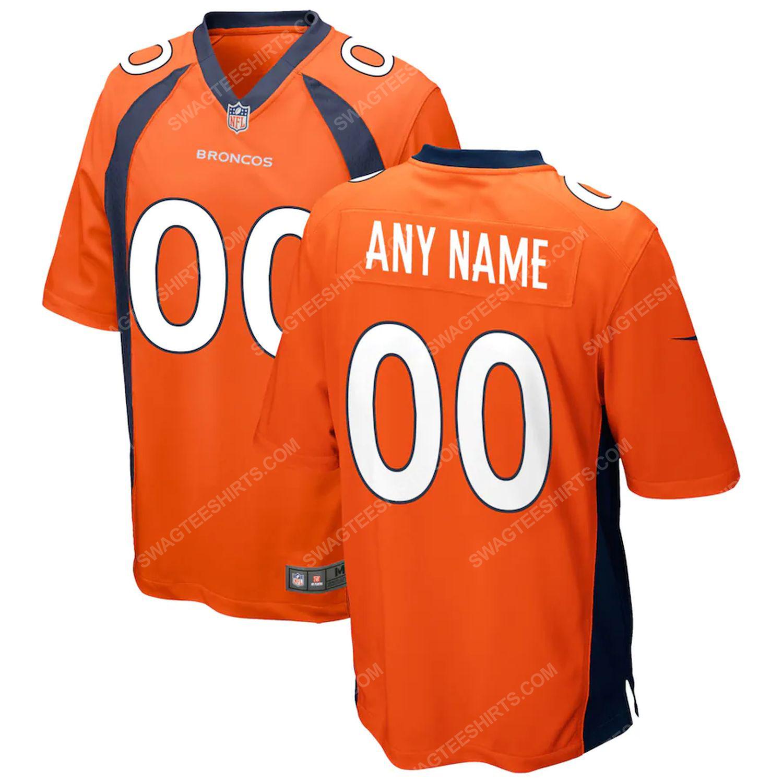 Custom denver broncos team full print football jersey-orange