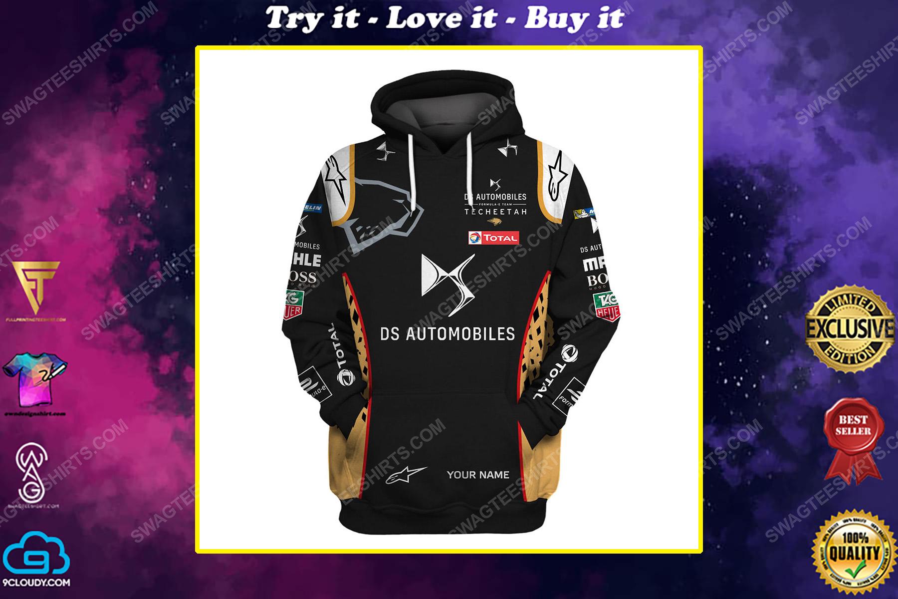 Custom ds automobiles racing team motorsport full printing shirt