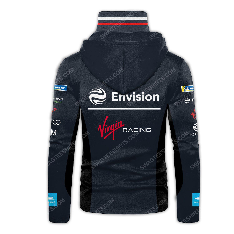 Custom envision virgin racing team motorsport full printing hoodie mask - back