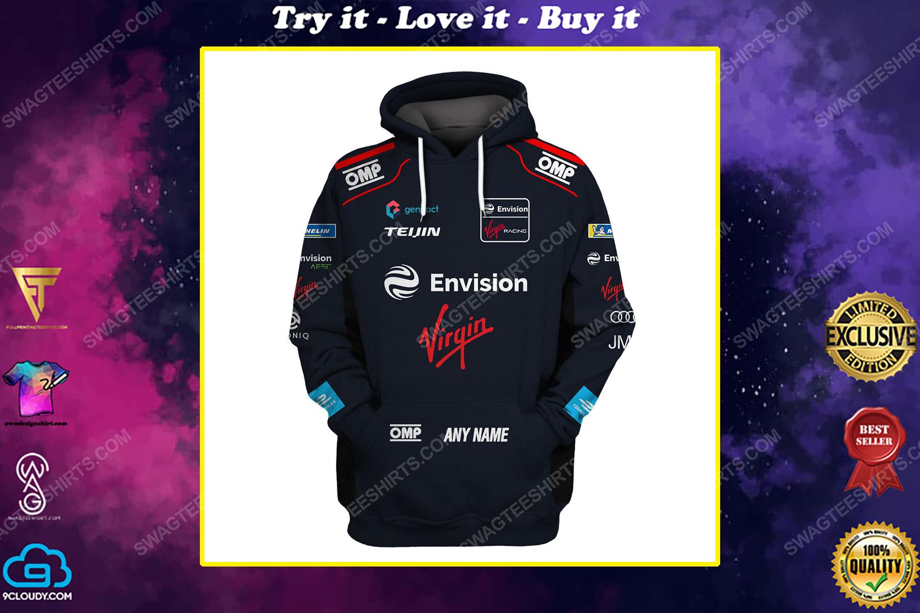 Custom envision virgin racing team motorsport full printing shirt