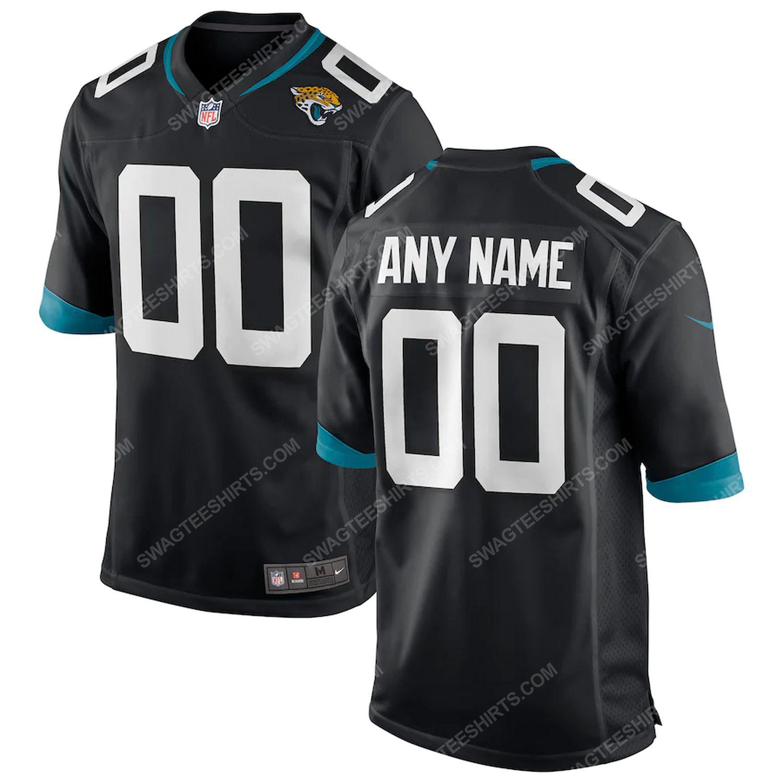 Custom jacksonville jaguars football full print football jersey-black - Copy