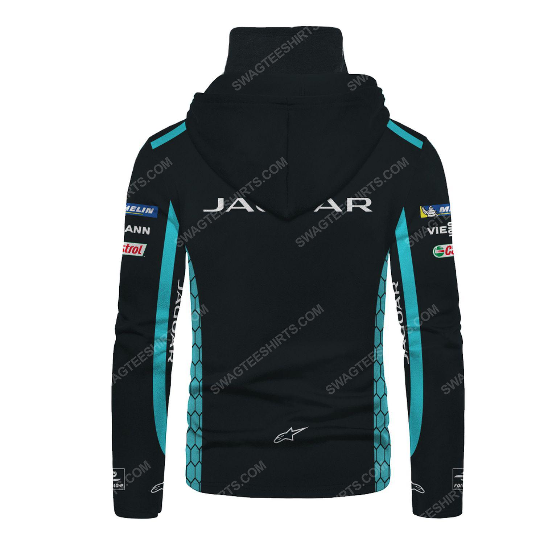 Custom jaguar racing team motorsport full printing hoodie mask - back
