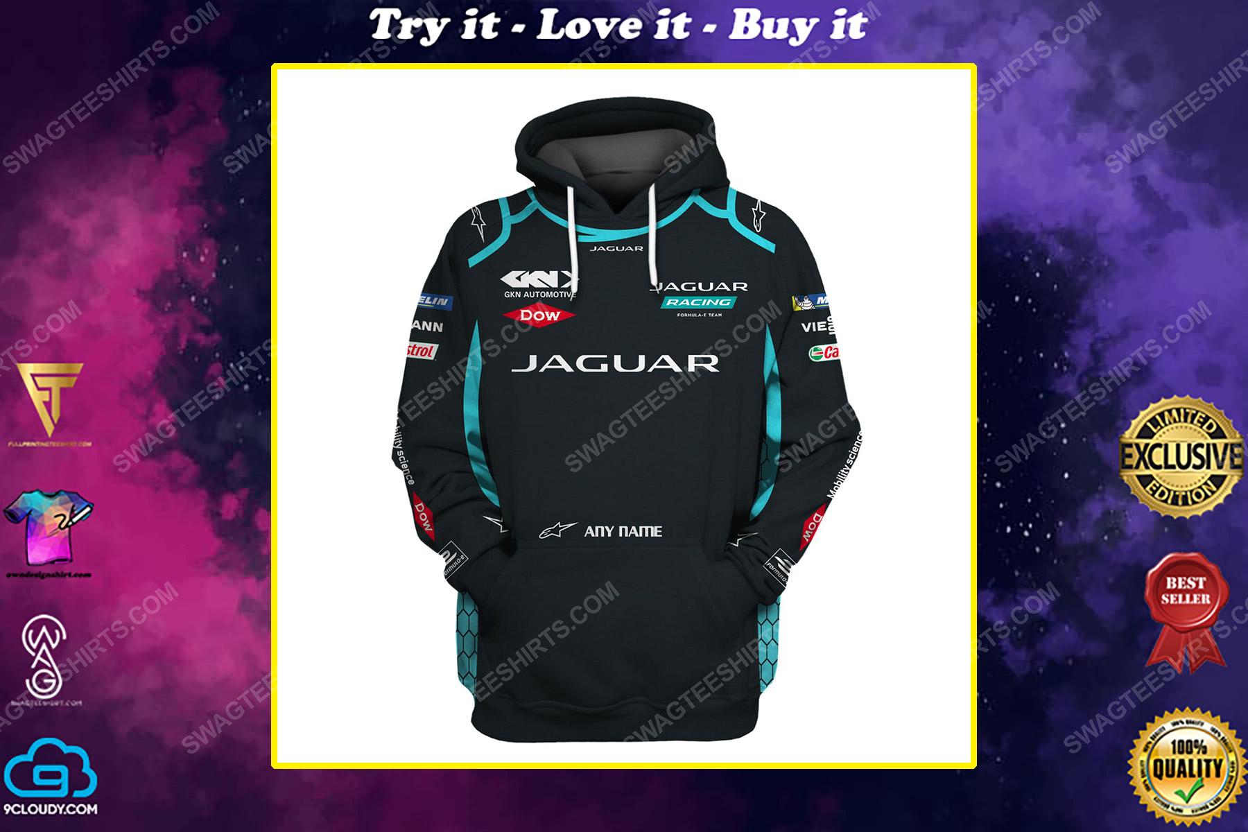 Custom jaguar racing team motorsport full printing shirt