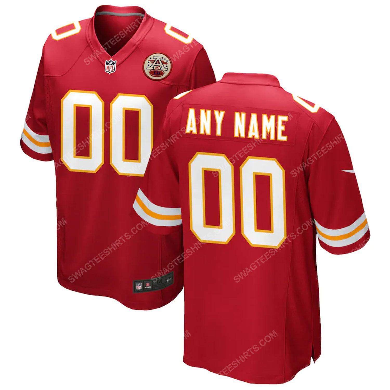 Custom kansas city chiefs football full print football jersey-red - Copy (3)