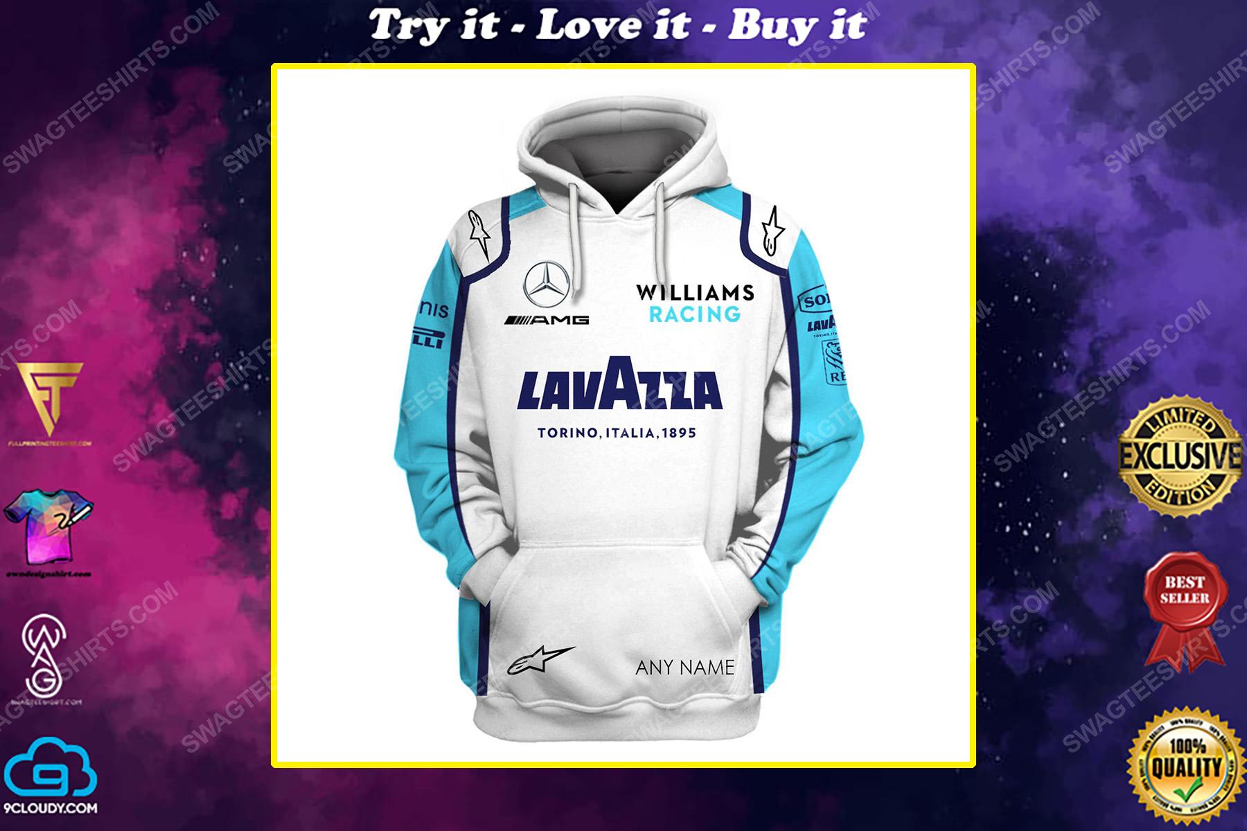 Custom lavazza mercedes racing team motorsport full printing shirt