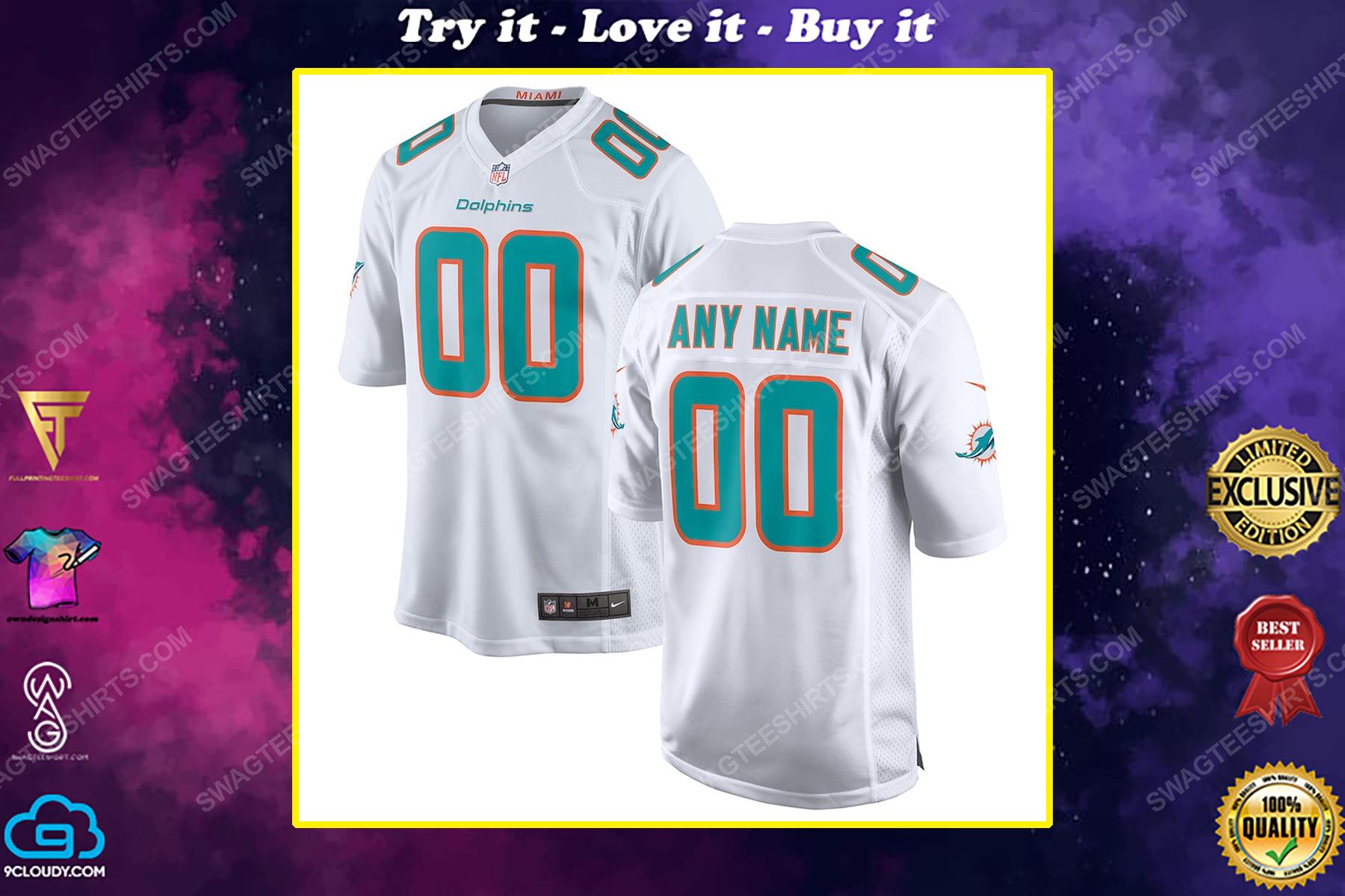 Custom miami dolphins football full print football jersey