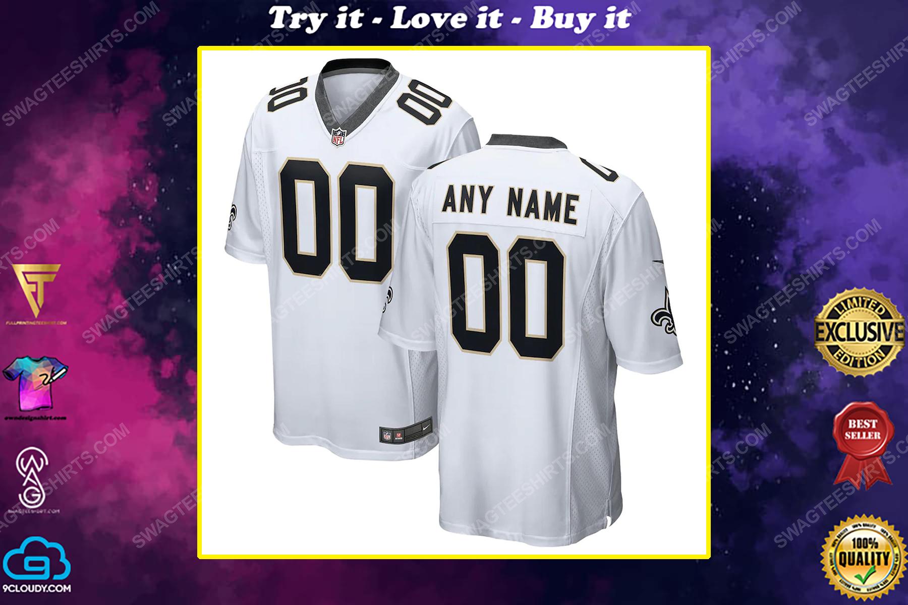 Custom new orleans saints football team full print football jersey