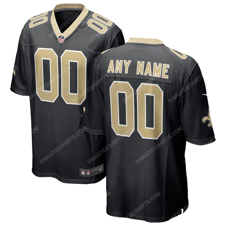 Custom new orleans saints team full print football jersey-black - Copy