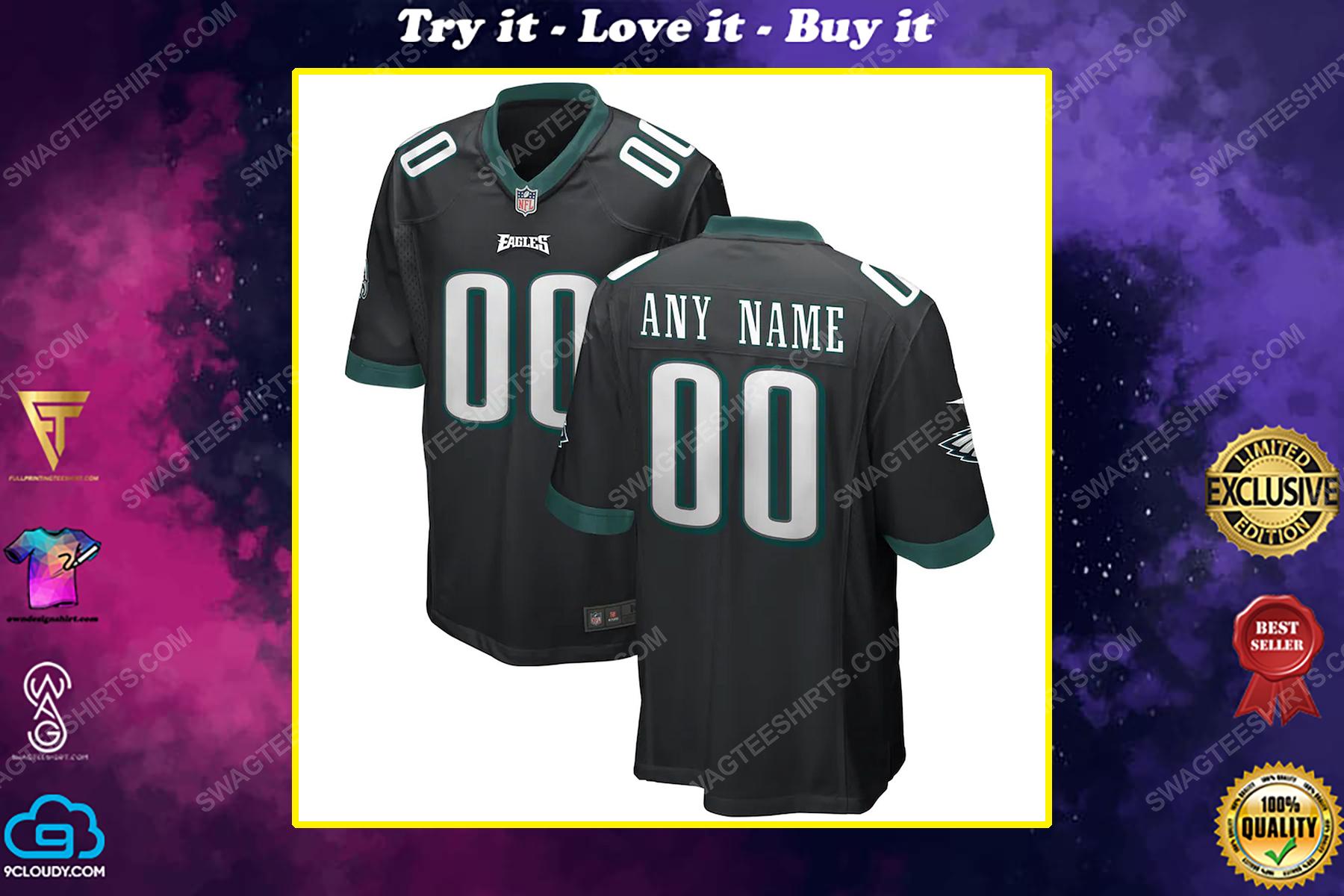 Custom nfl philadelphia eagles full print football jersey
