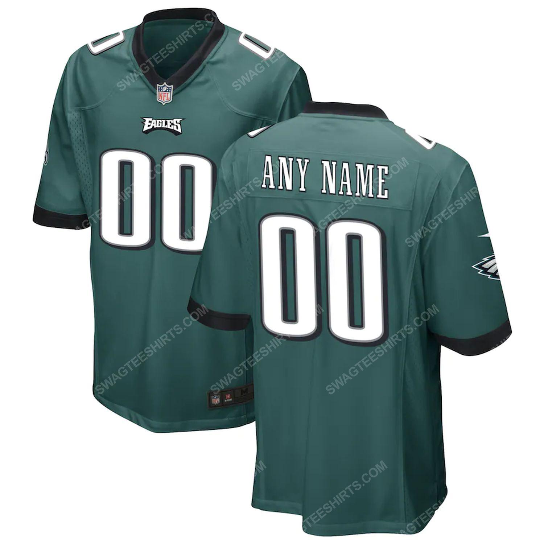 Custom philadelphia eagles team full print football jersey-midnight green
