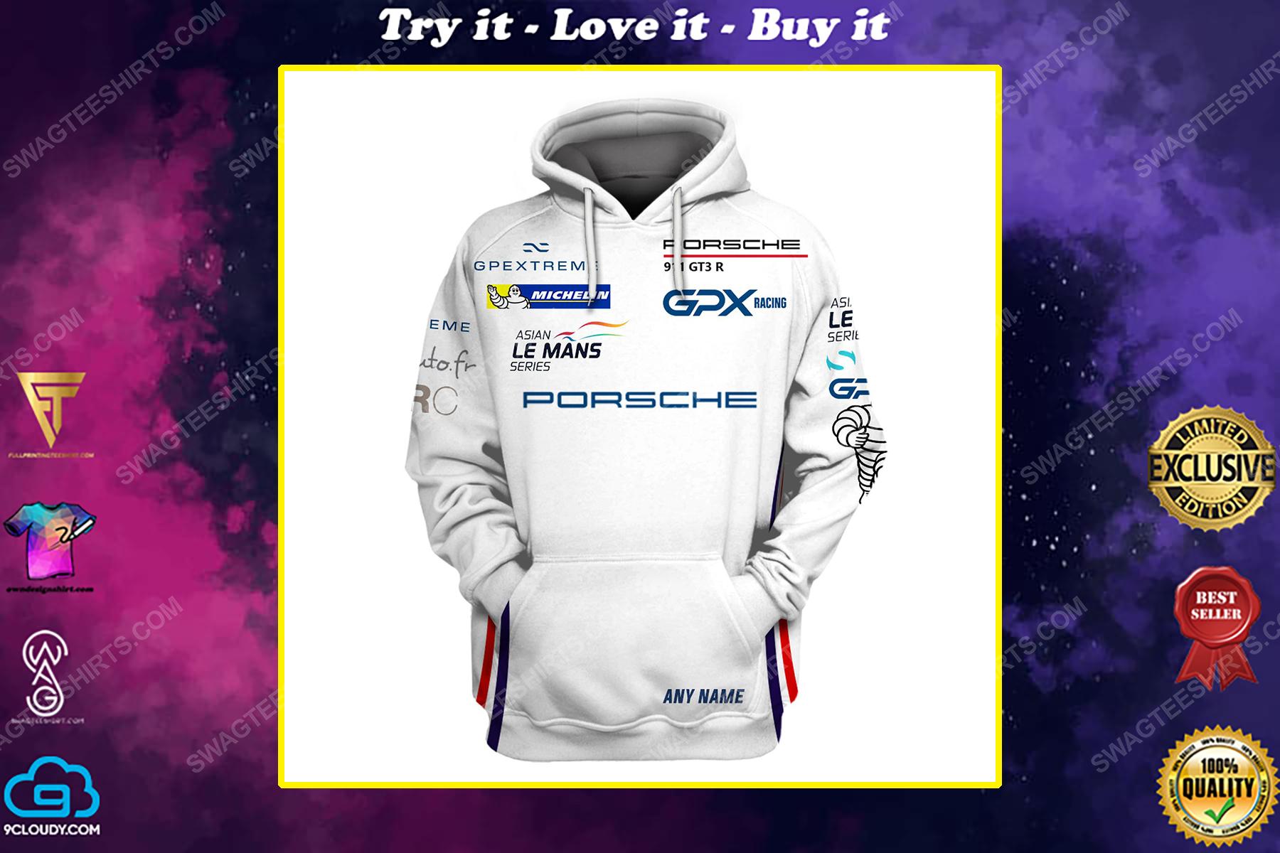 Custom porsche racing team motorsport full printing shirt