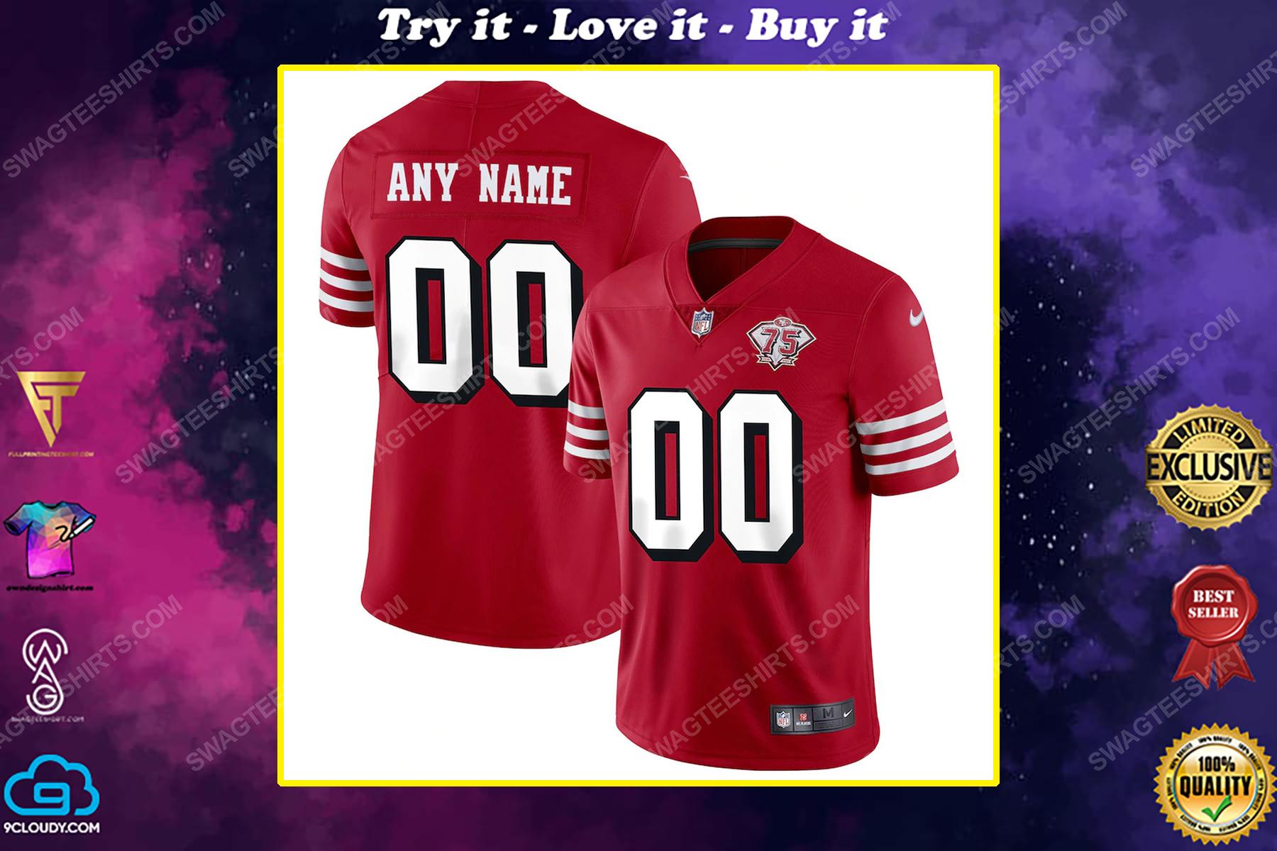 Custom san francisco 49ers football full print football jersey