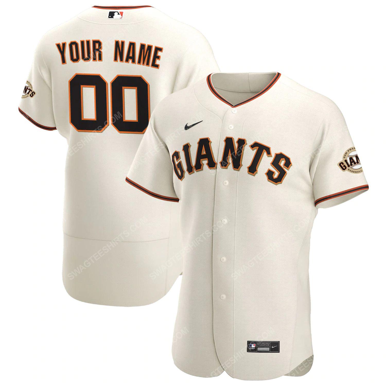 Custom san francisco giants full print football jersey-cream - Copy
