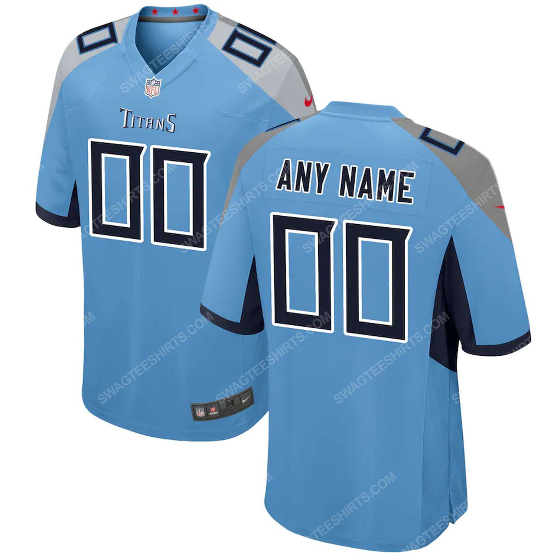 Custom tennessee titans football full print football jersey- light blue