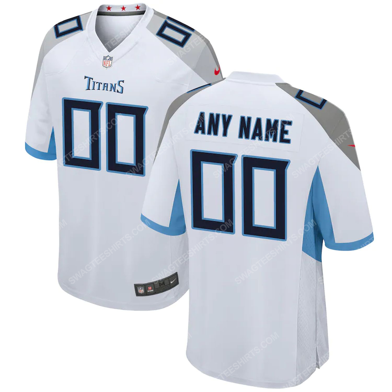 Custom tennessee titans football full print football jersey-white