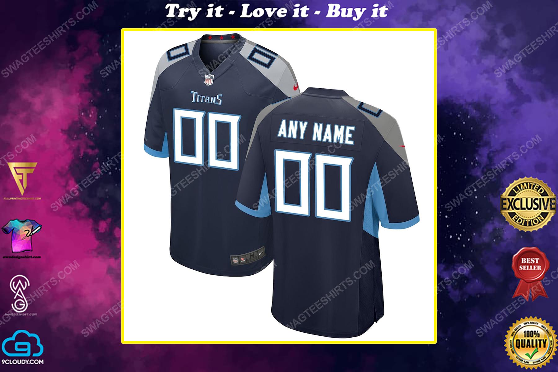 Custom tennessee titans football full print football jersey