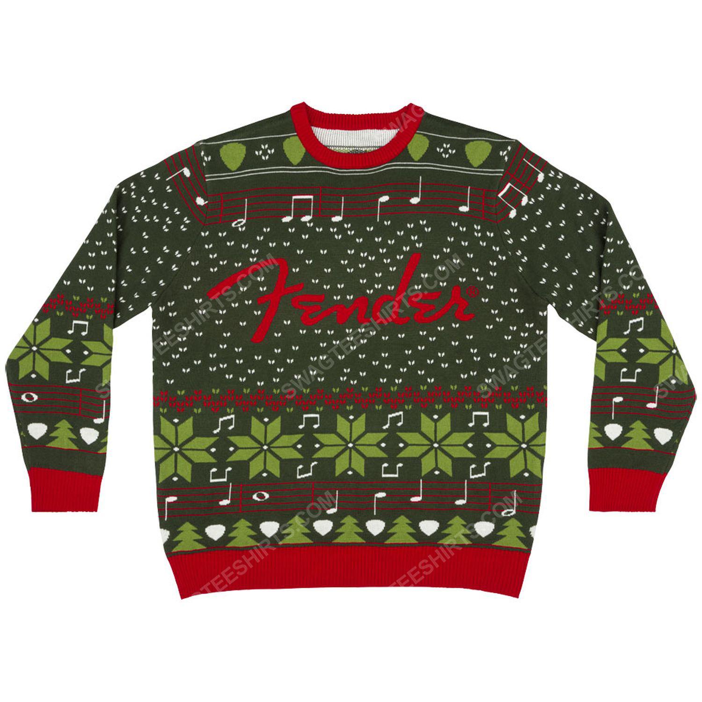 Fender guitar full print ugly christmas sweater 2