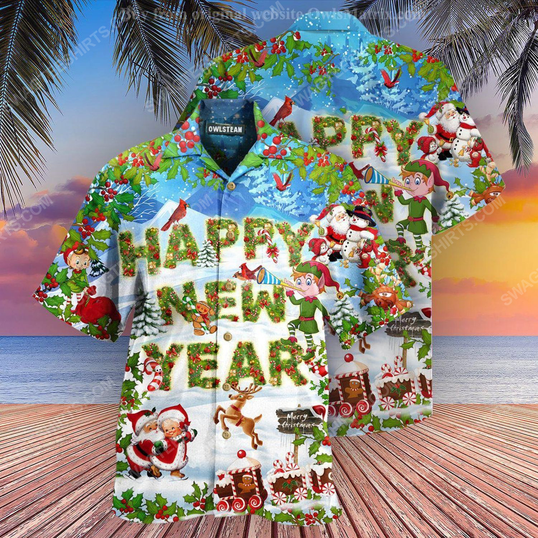 Merry christmas and happy new year full print hawaiian shirt 2
