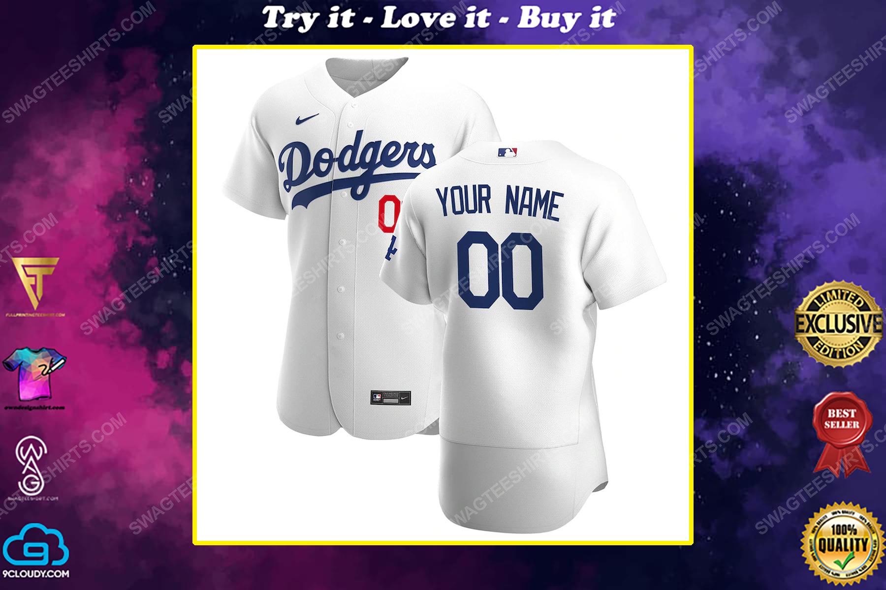 Personalized major league baseball los angeles dodgers baseball jersey