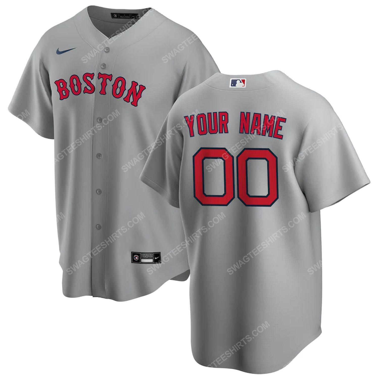 Personalized mlb boston red sox baseball jersey-gray - Copy