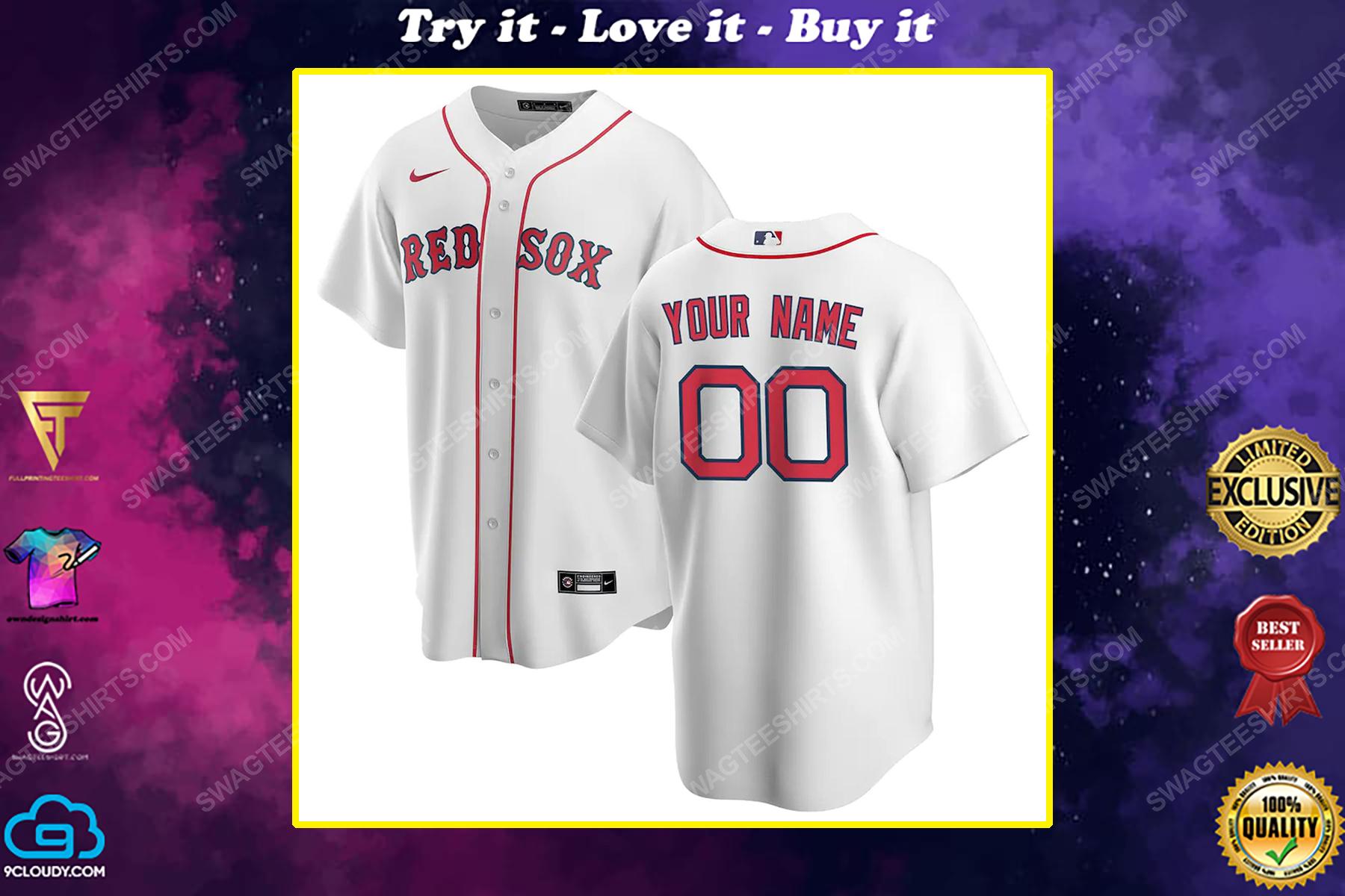 Personalized mlb boston red sox baseball jersey