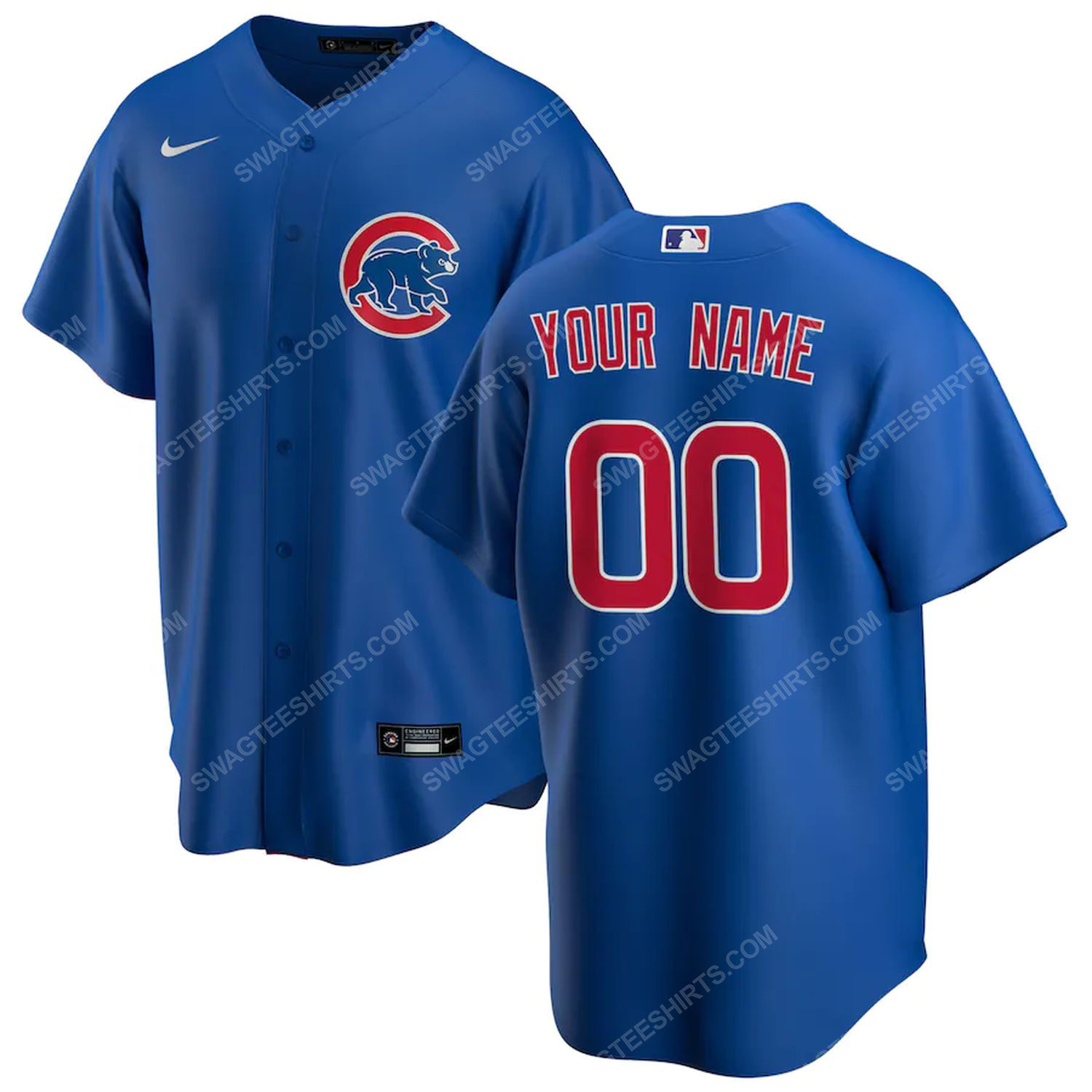 Personalized mlb chicago cubs baseball jersey-royal - Copy