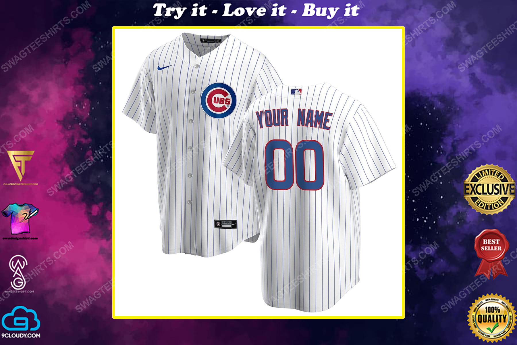 Personalized mlb chicago cubs baseball jersey