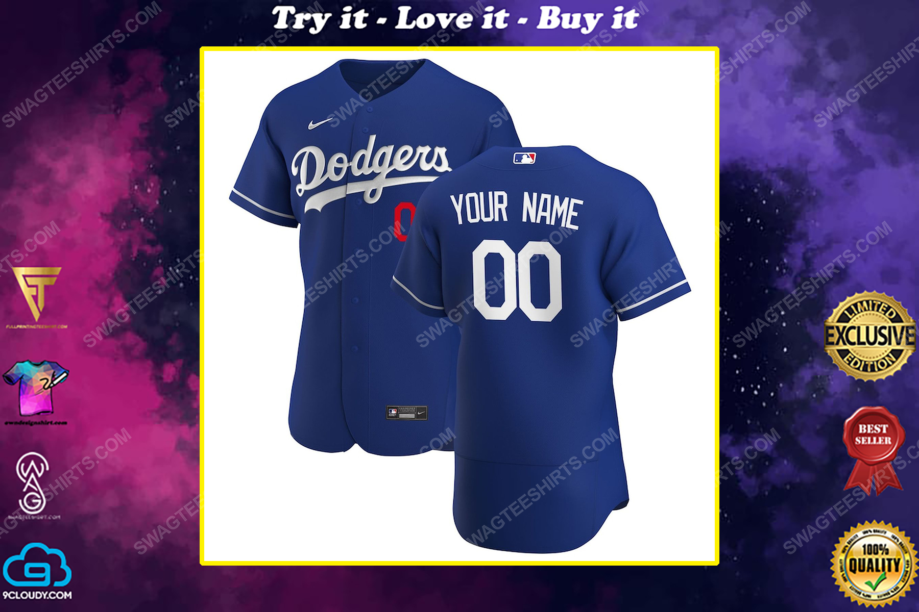 Personalized mlb los angeles dodgers baseball jersey