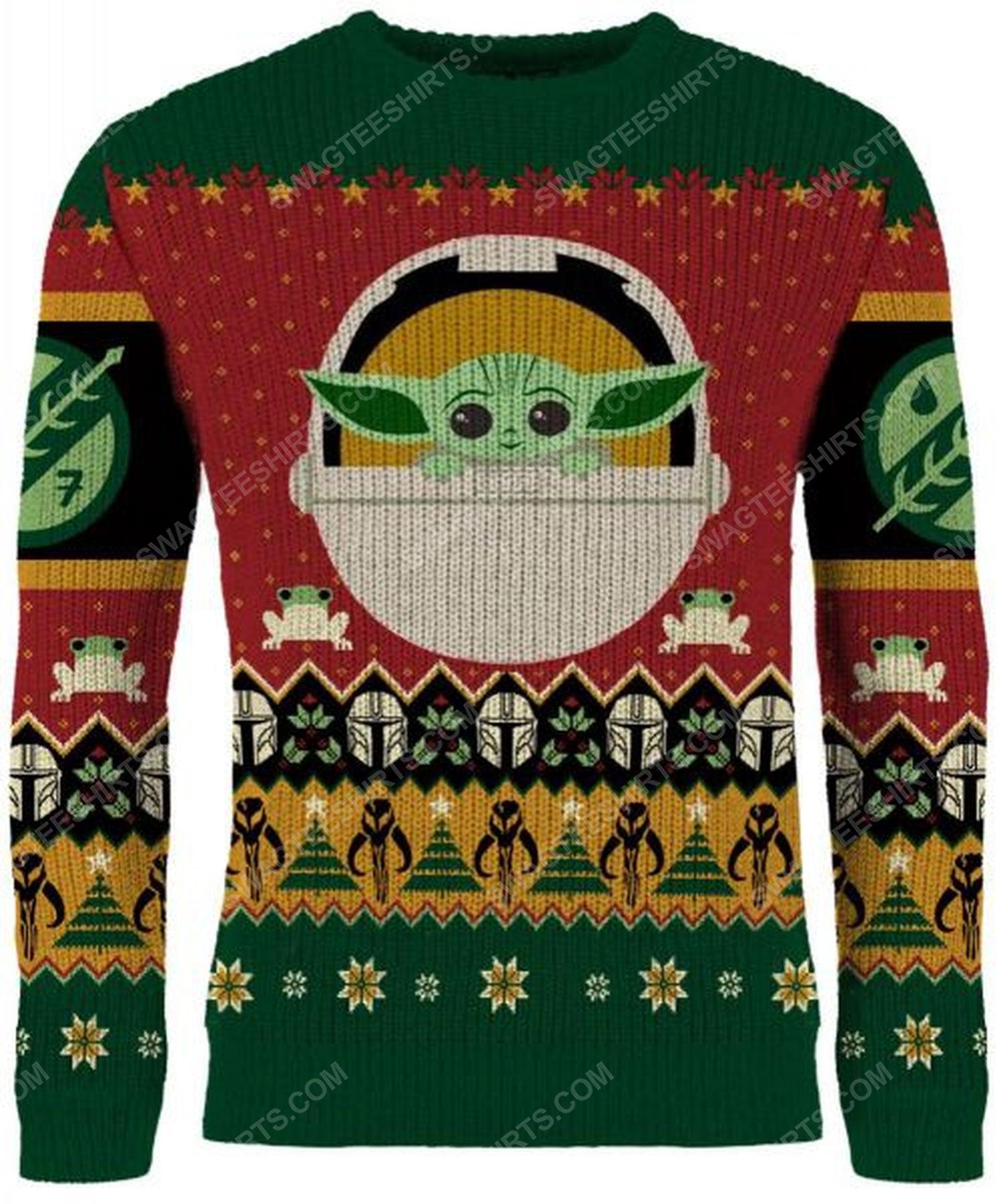 Star wars the mandalorian full print ugly christmas sweater 2 - Copy (2)