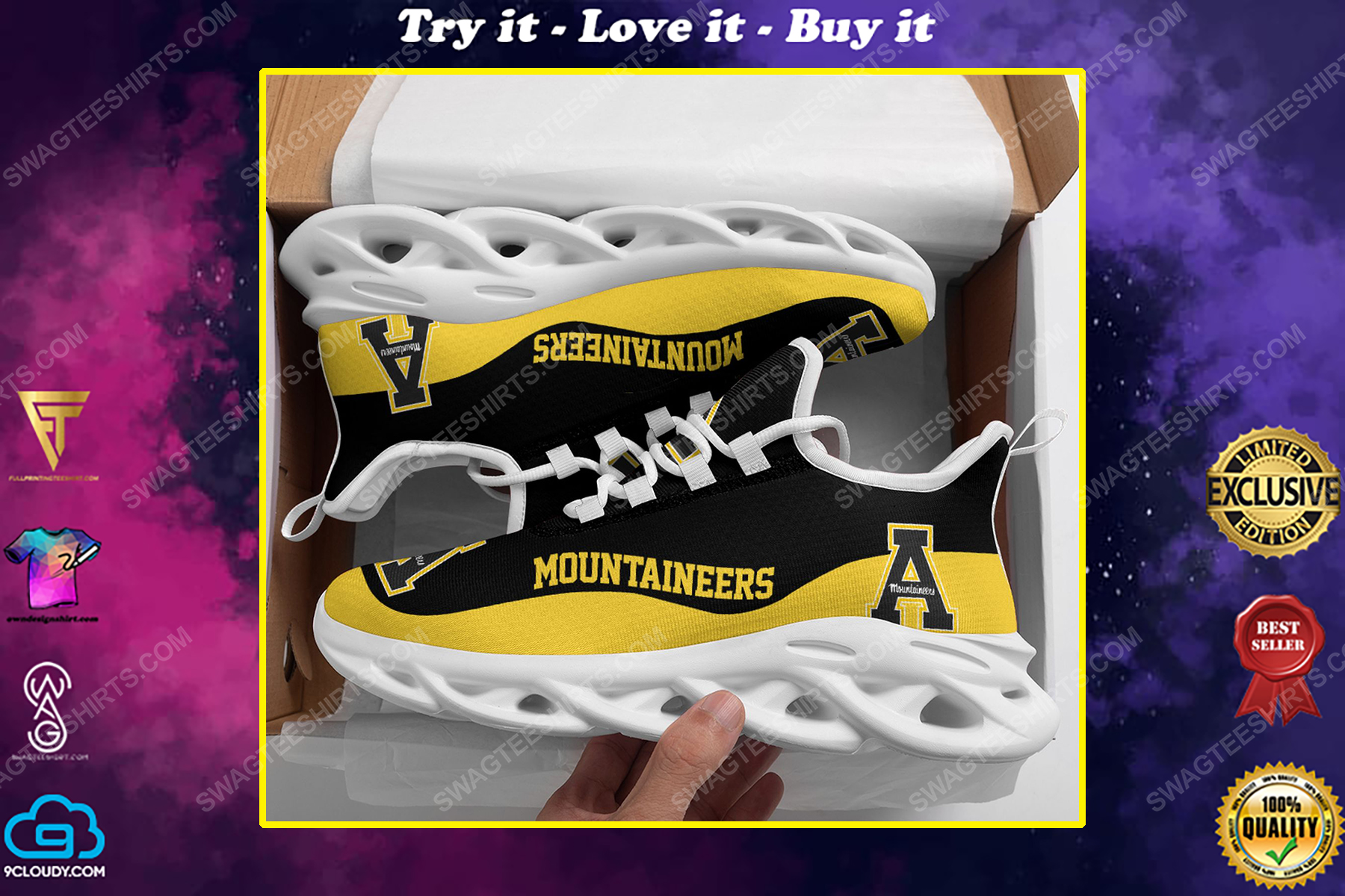The appalachian state mountaineers football team max soul shoes