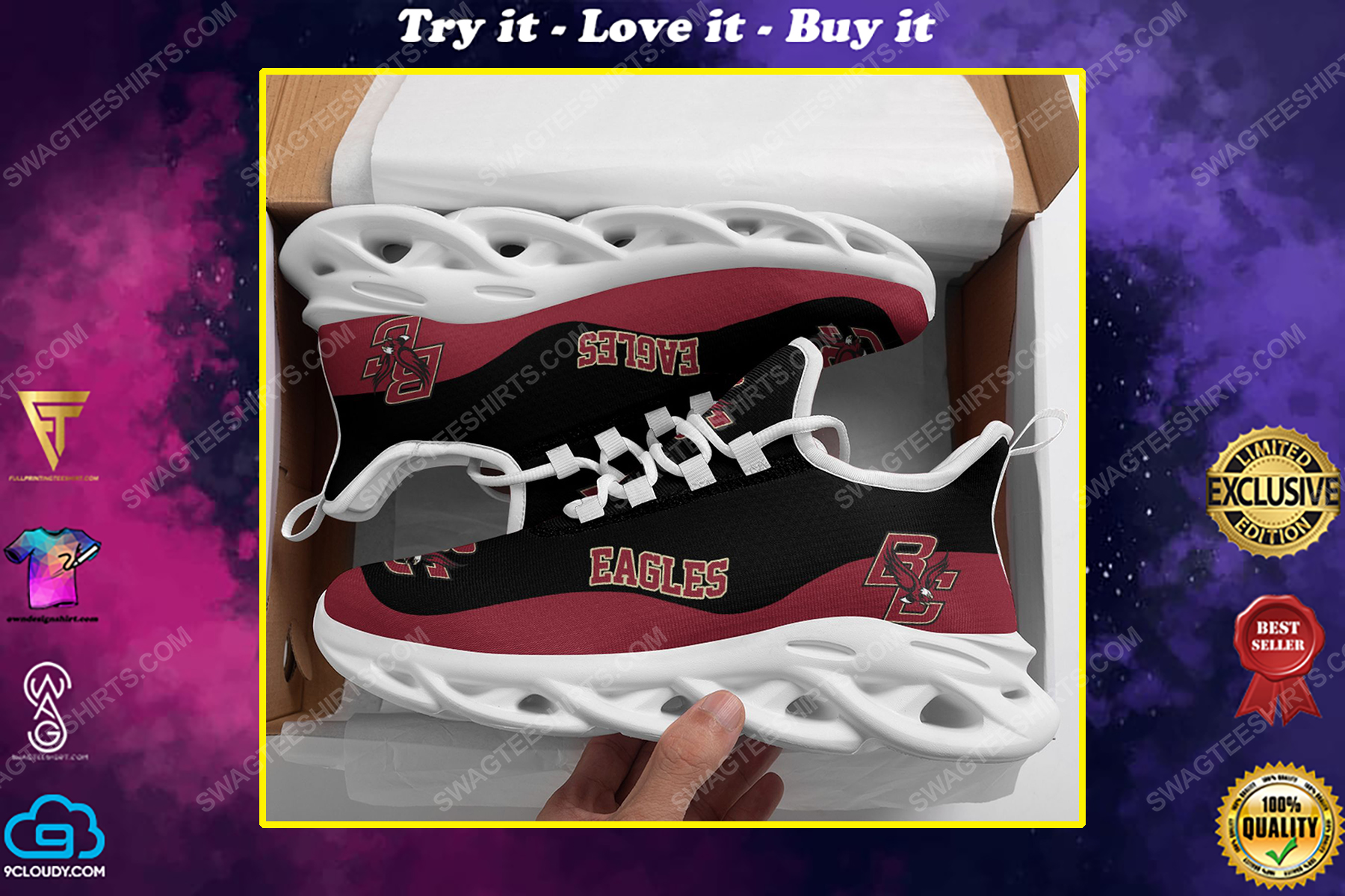 The boston college eagles football team max soul shoes
