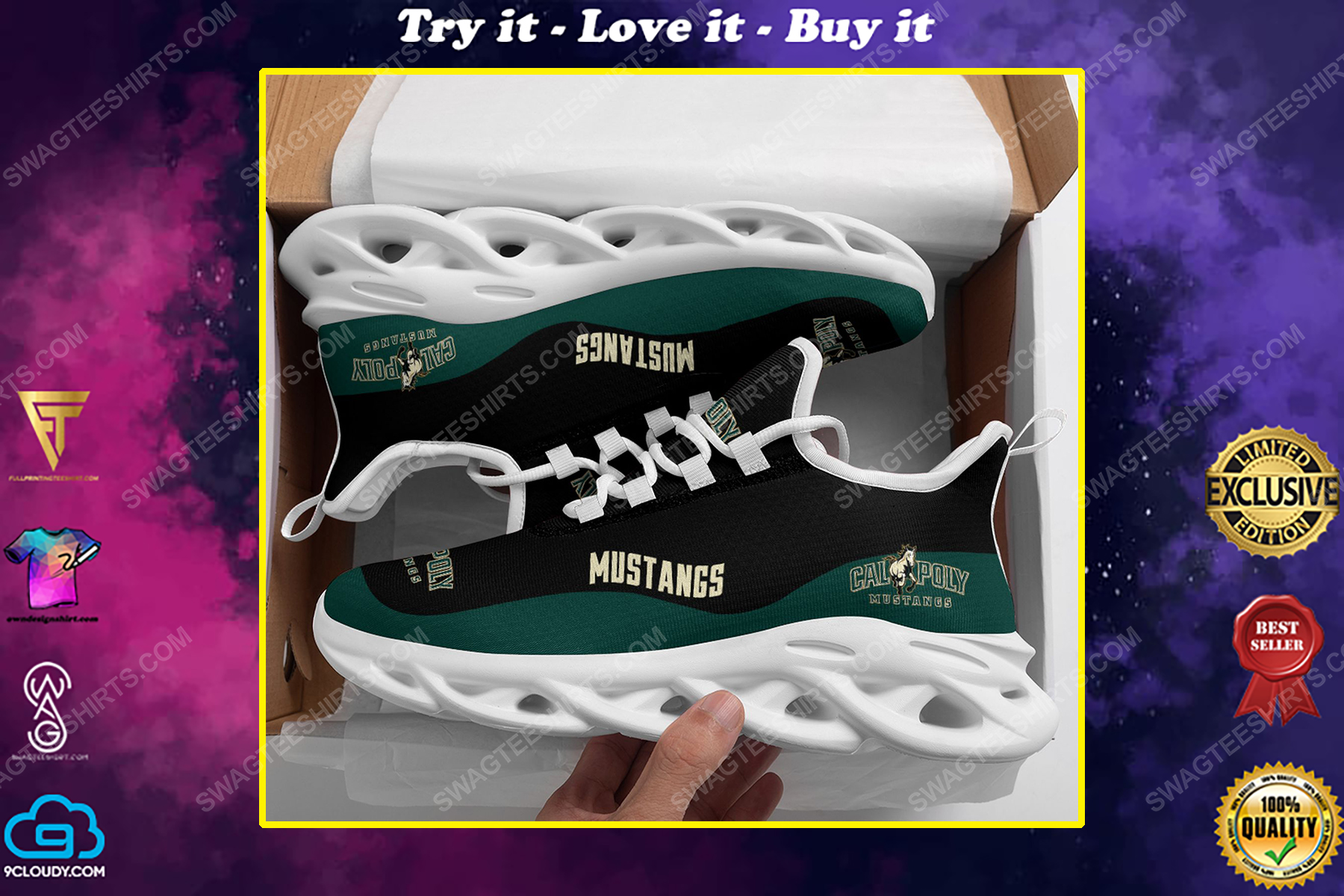 The cal poly mustangs football team max soul shoes