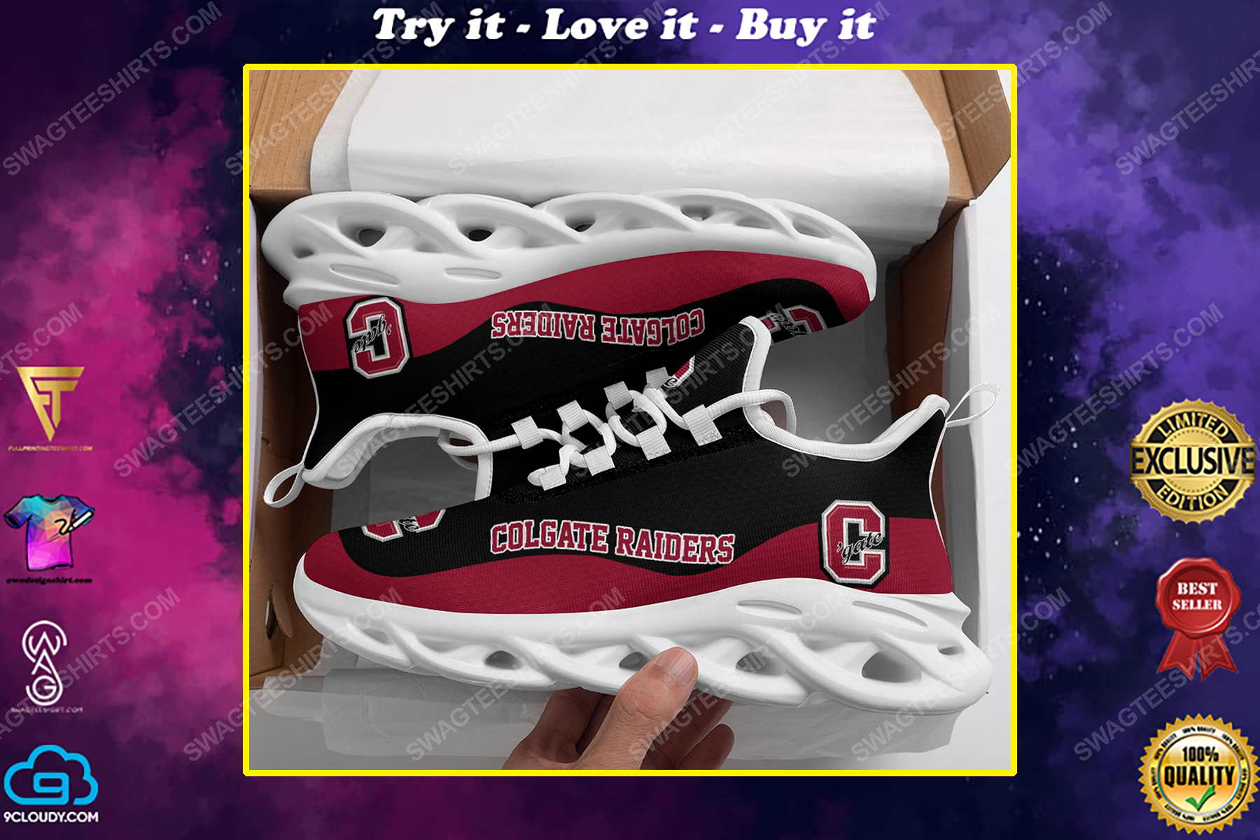 The colgate raiders football team max soul shoes